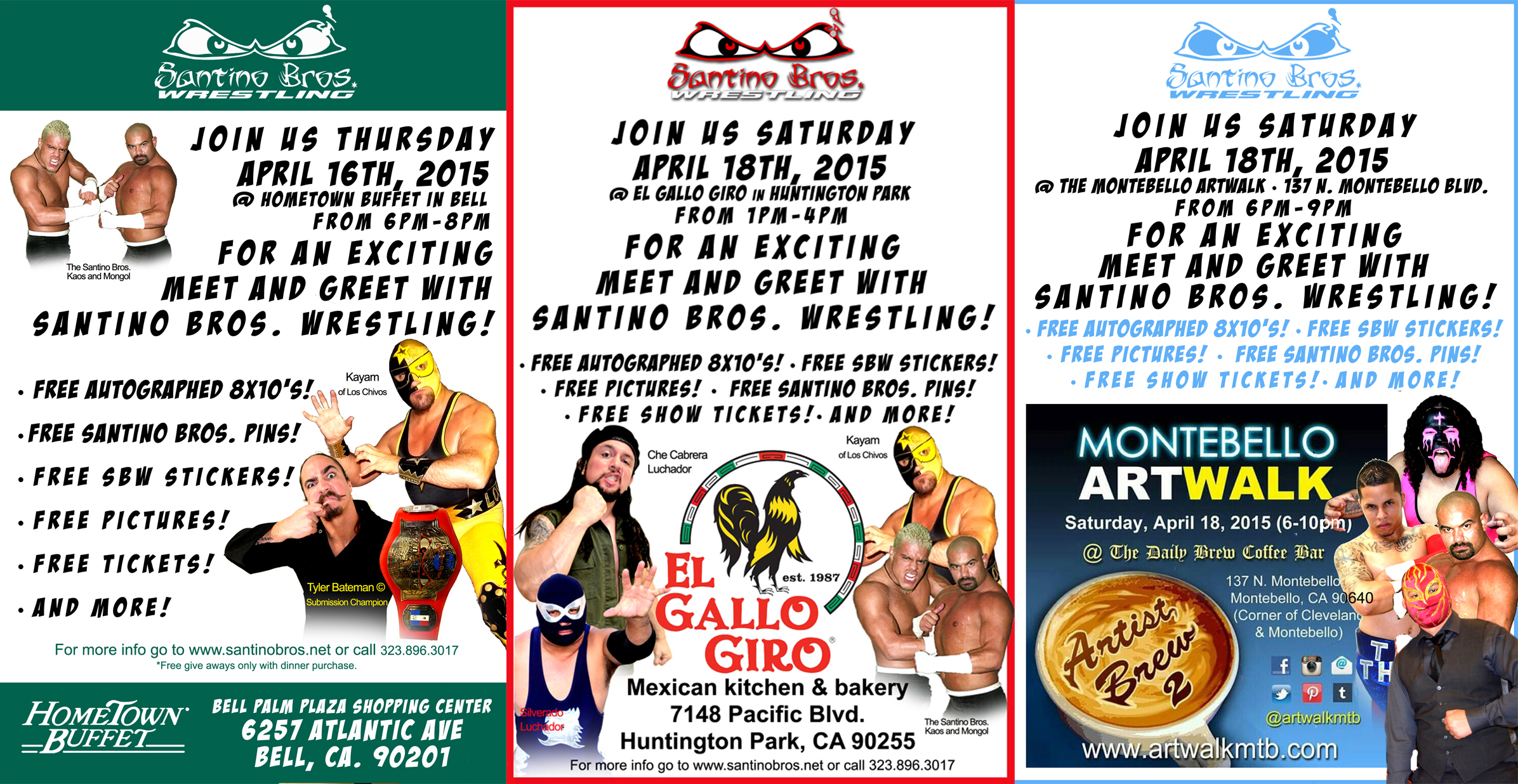 Meet and greet the santino bros santino bros wrestling academy meet and greets m4hsunfo